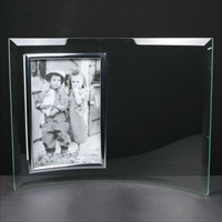 Glass photo frame, engraved for Christening Gift.