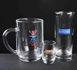 Cheap Bowling Club trophy glassware.