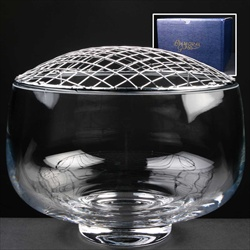 """Balmoral Glass"" Rose Bowl, with net."