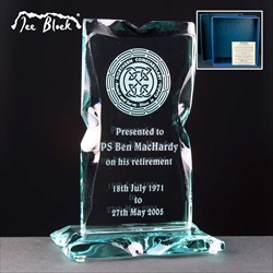 """Ice Block"" Monument Trophy, engraved professionally."