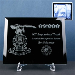 Black Plaque, engraved for Football Club.