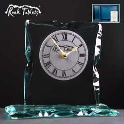 Engraved Glass Clock. 45th Anniversary gift for a Couple.