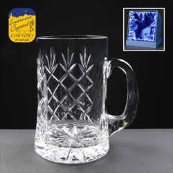 1pt Lead Crystal Tankard, engraved for a Best Man.