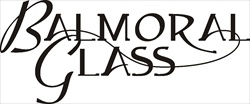 The Balmoral Glass logo signifies mouth blown glassware of good quality, beautifully packaged.
