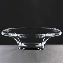 Modern Rectangular Fruit Bowl in heavyweight glass.