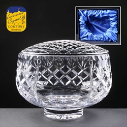 """Inverness Crystal"" Rose Bowl, complete with 'net'."