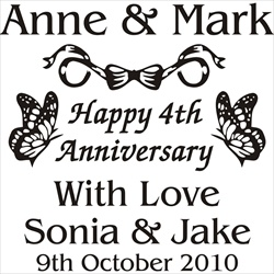 Engraving for 4th Anniversary Gift for Couple.