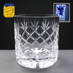 Engraved cut crystal, Anniversary Gift for Him.