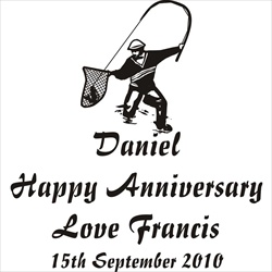 An Anniversary Gift for Him can include a design of his favourite sport engraved into the glass or crystal.