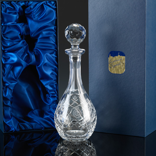 """Inverness Crystal"" Wine Decanter, for engraving."
