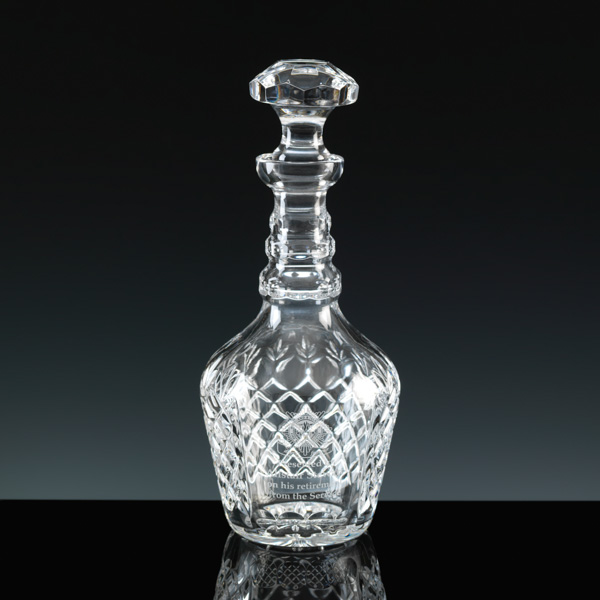 Lead Crystal Georgian Wine Decanter. For Engraving.