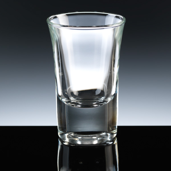 "The ""Hot Shot"" shot glass. Can be engraved or printed."