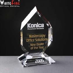 Flat glass award, engraved for Dealer of the year Award.