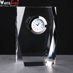 Optical Crystal Clock, engraved for Corporate Anniversary.