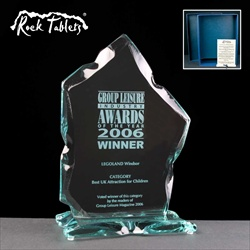 "A ""Strathmore"" glass award, engraved for an Industry Award."