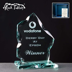 """Strathconon"" flat glass award, engraved for Corporate Day Out Prize."