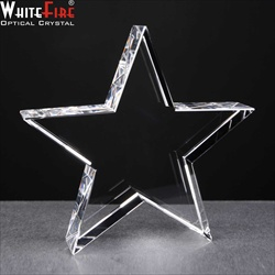 Standing Crystal Star Award. For engraving.