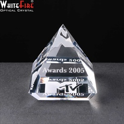 Optical crystal paperweight, engraved for Corporate Prize.