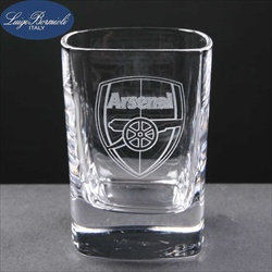 Square Tumbler, printed with Football Club logo.