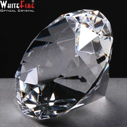 Diamond Paperweight in engraveable optical crystal.