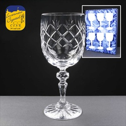 Cut-crystal Wine Glass. Clear crystal engraving space.