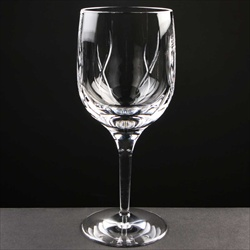 Modern cut-crystal Lead Crystal Wine Glass, for engraving.