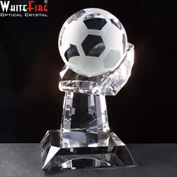 Optical Crystal 'Football in Hand'. The ball spins.