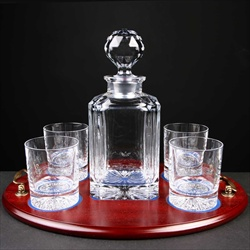 Military Glassware Whisky Decanter and glasses.