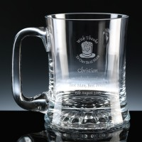 Balmoral Glass Mouth Blown Waisted 1 Pint, Single, Gift Boxed