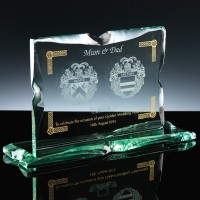 Wedding Anniversary With Colour Bespoke Gift Jade Glass, Single, Blue Boxed