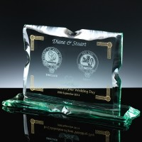 Wedding With Colour Bespoke Gift Jade Glass, Single, Blue Boxed