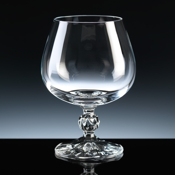 Claudia 10oz Brandy Glass, Single, Blue Boxed