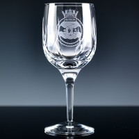 Elite Panelled Lead Crystal 10oz Wine Glass, Single, Blue Boxed