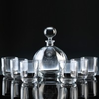 Modern Orbit Decanter & 6 Tumblers Whisky Set, Single, Gift Boxed