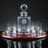 Regal Decanter & 2 Tumblers Whisky Set, Single, Manufacturer's Own Carton