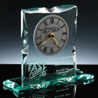 Rock Tablet 9.5 x 3.5 x 8.25 inch Caledonian Clock Executive Award, Single, Blue Boxed